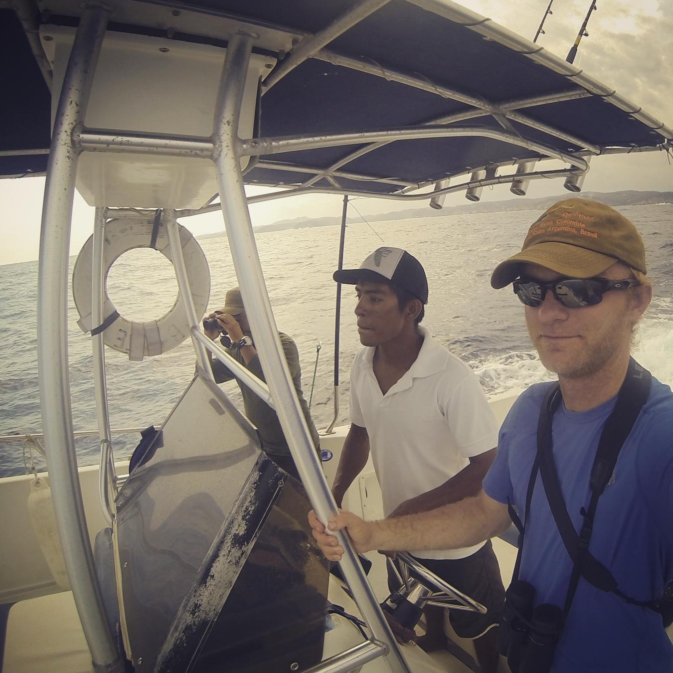 Pelagic birding off Oaxaca. Noah Strycker