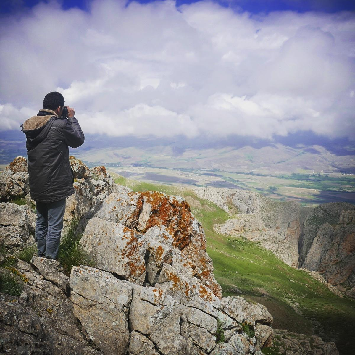 Emin looks for Caspian Snowcocks in Aladaglar National Park. Noah Strycker