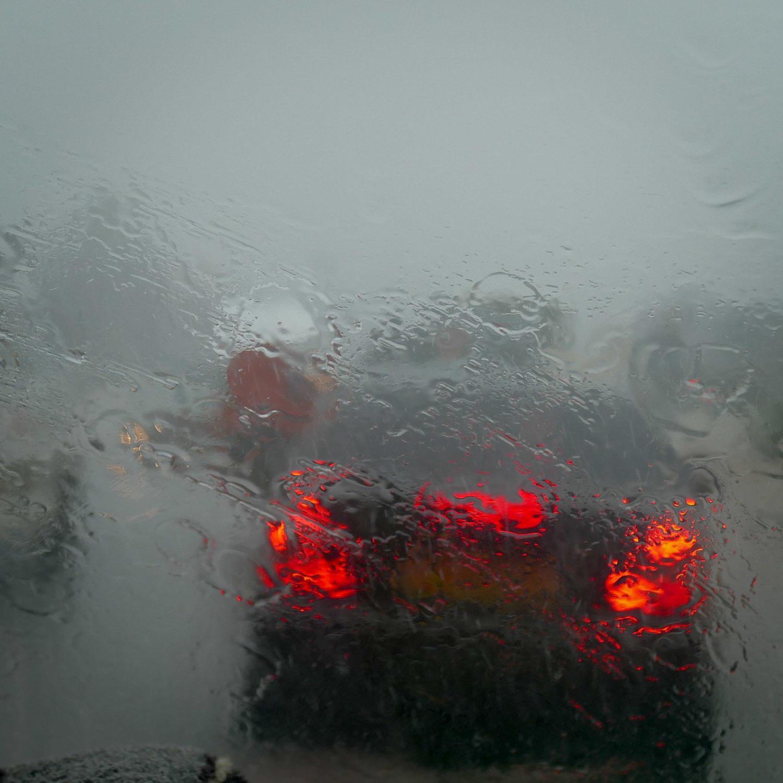 Rain slashes down on Noah's last morning in Cameroon. Noah Strycker