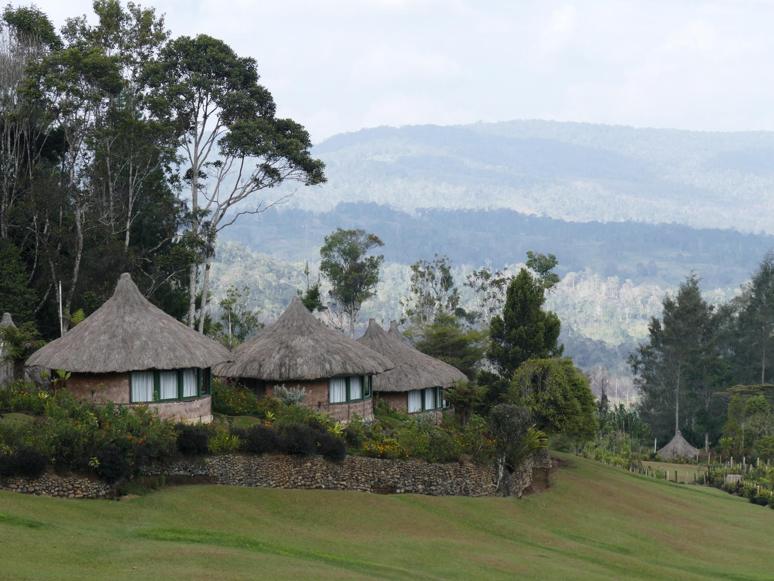 Ambua Lodge sits at 7,000 feet in Papua New Guinea's central highlands. Noah Strycker
