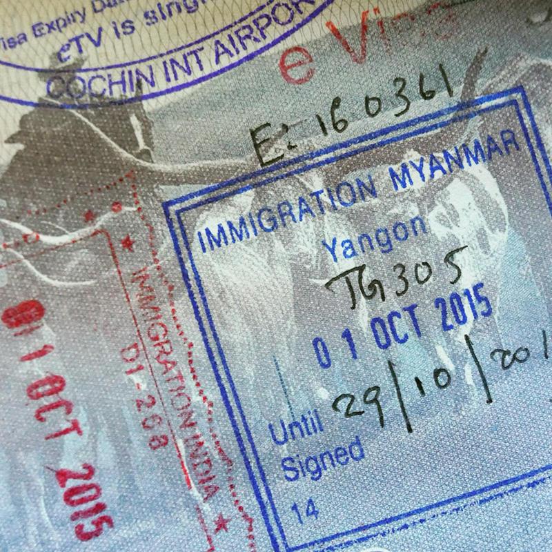 Noah's passport gets another stamp. Noah Strycker
