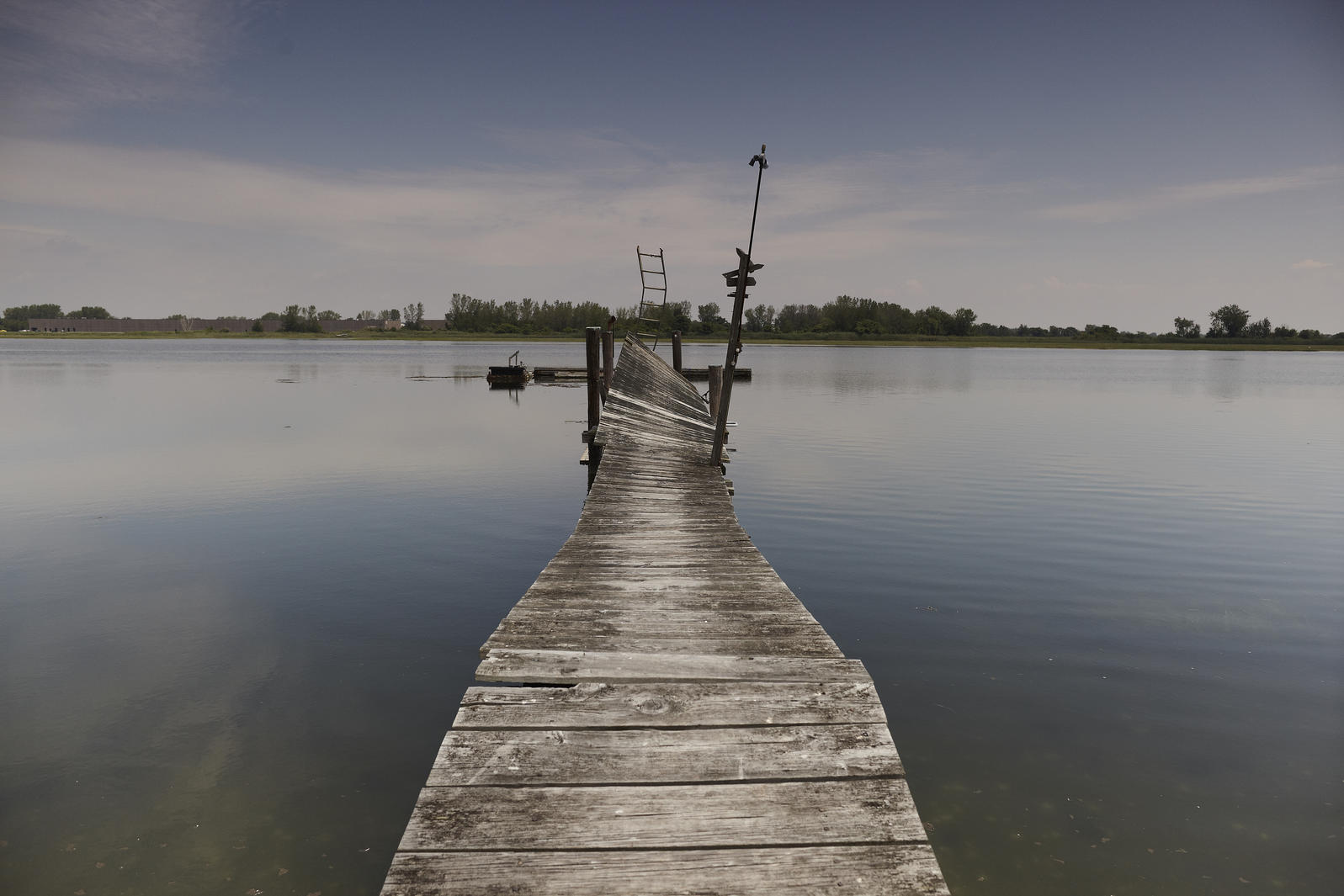 This rickety dock once provided water access for one of Stratford's Long Beach cottage dwellers. The dock's long gone, and so are the cottages. Photograph by John Huba