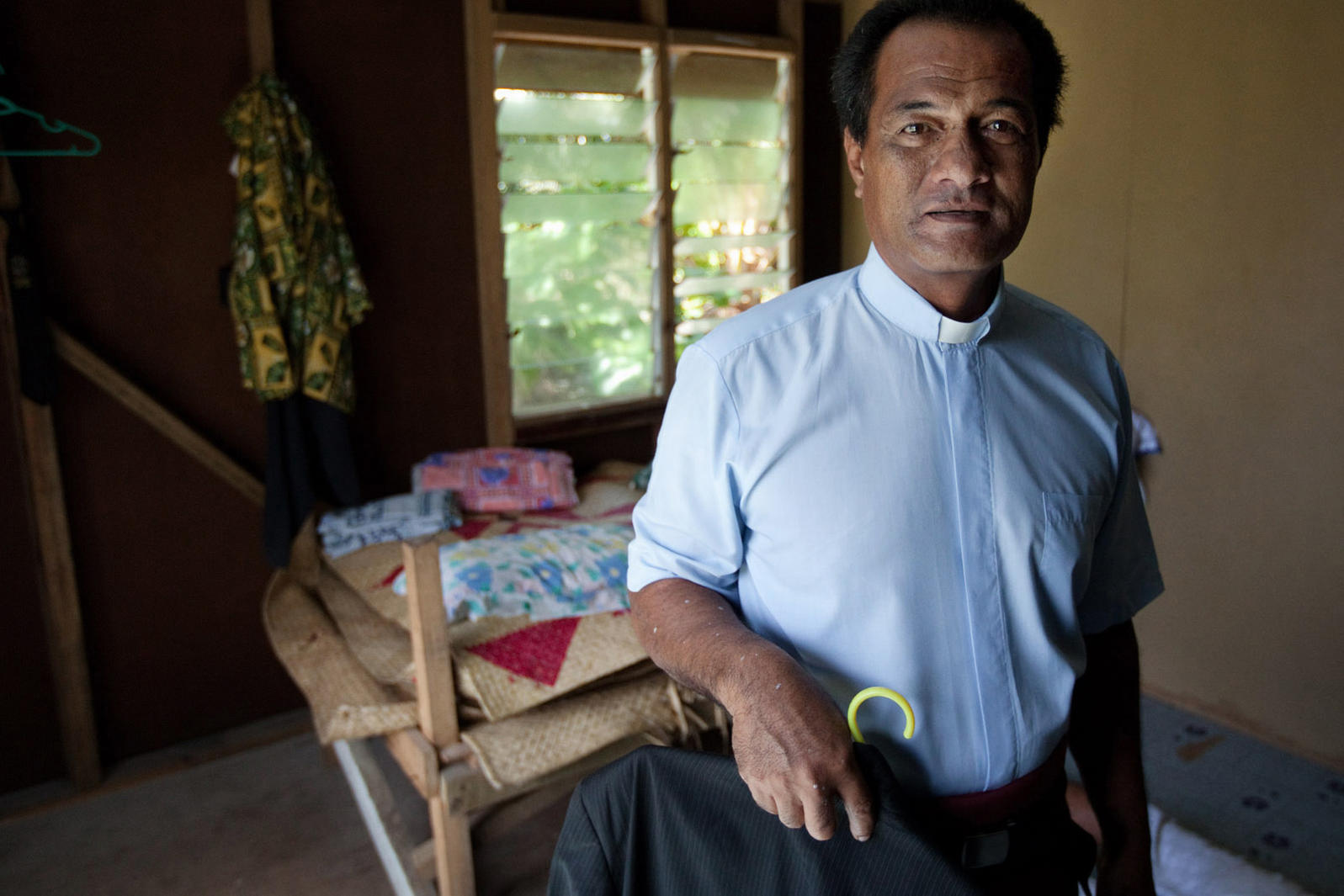 Tafue Lusama sees this year's U.N. climate conference as the last hope for saving his home country and other Pacific Island nations. Rodney Dekker