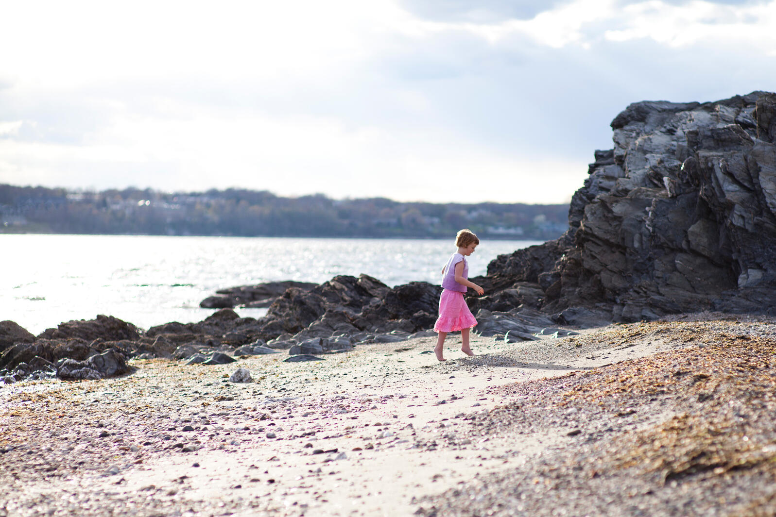 Five-year-old Shannon Freeman explores the wilds of Rhode Island. Joseph Laurin Photography