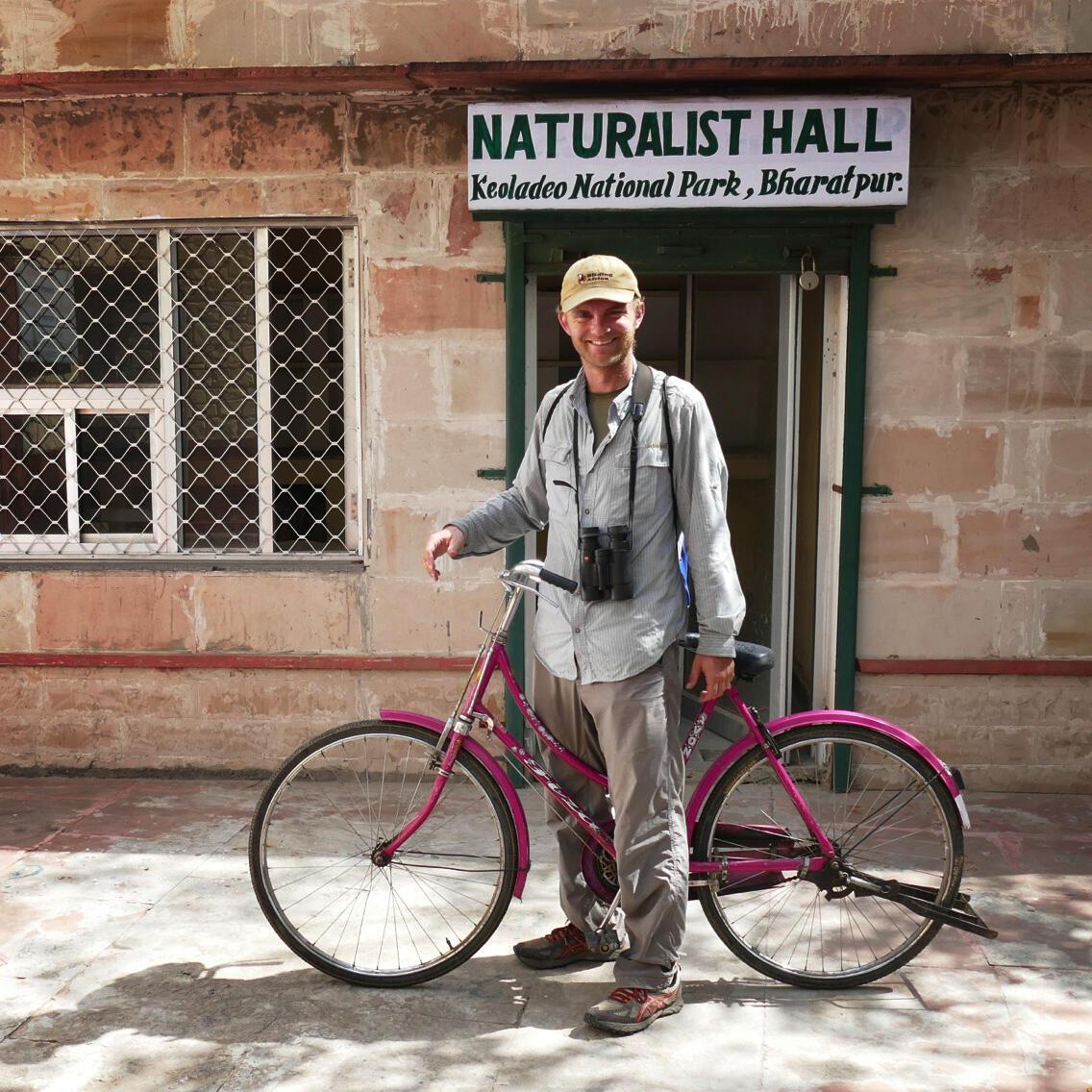 Noah and his pink bicycle. Noah Strycker
