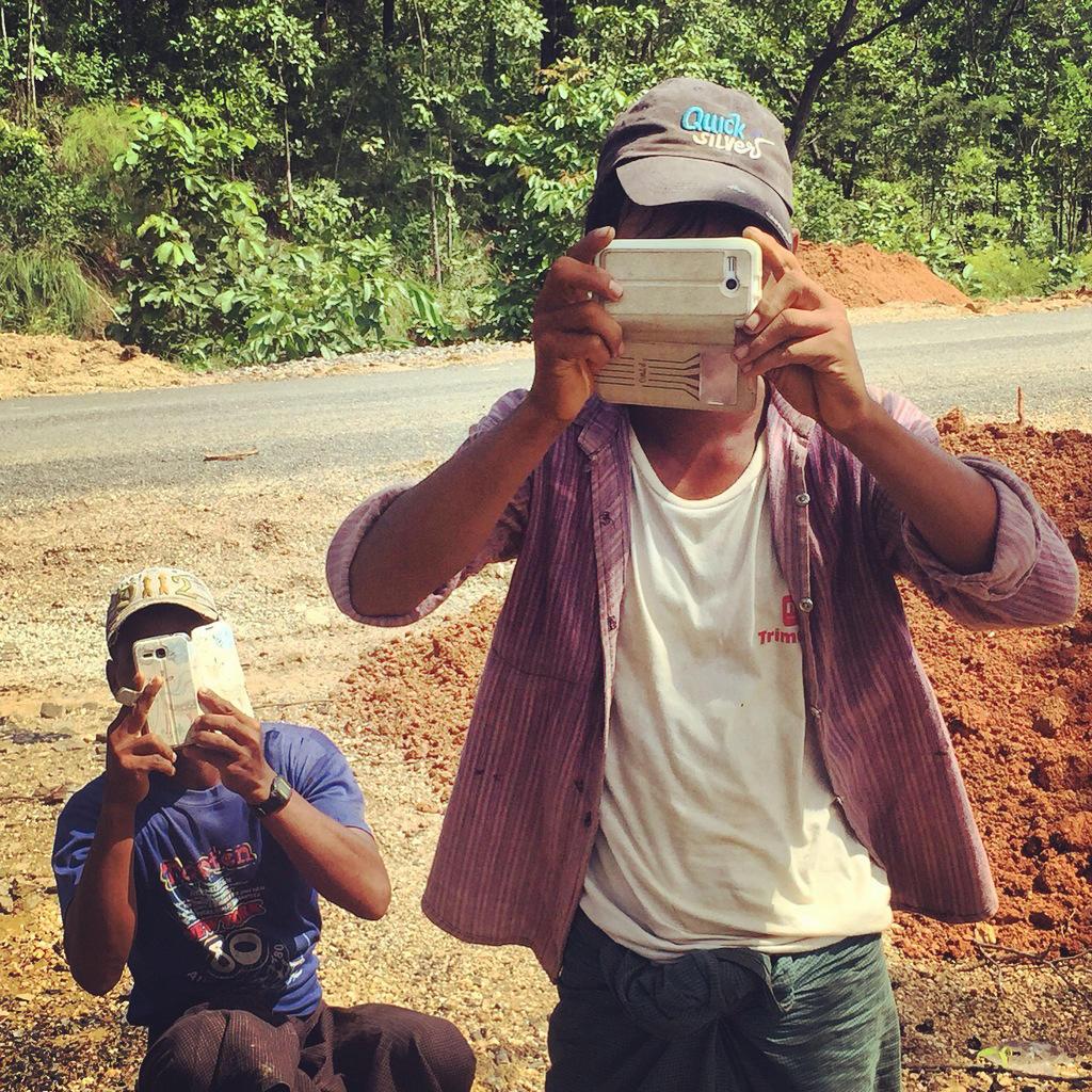 Locals snap photos of Noah on their cell phones. Noah Strycker