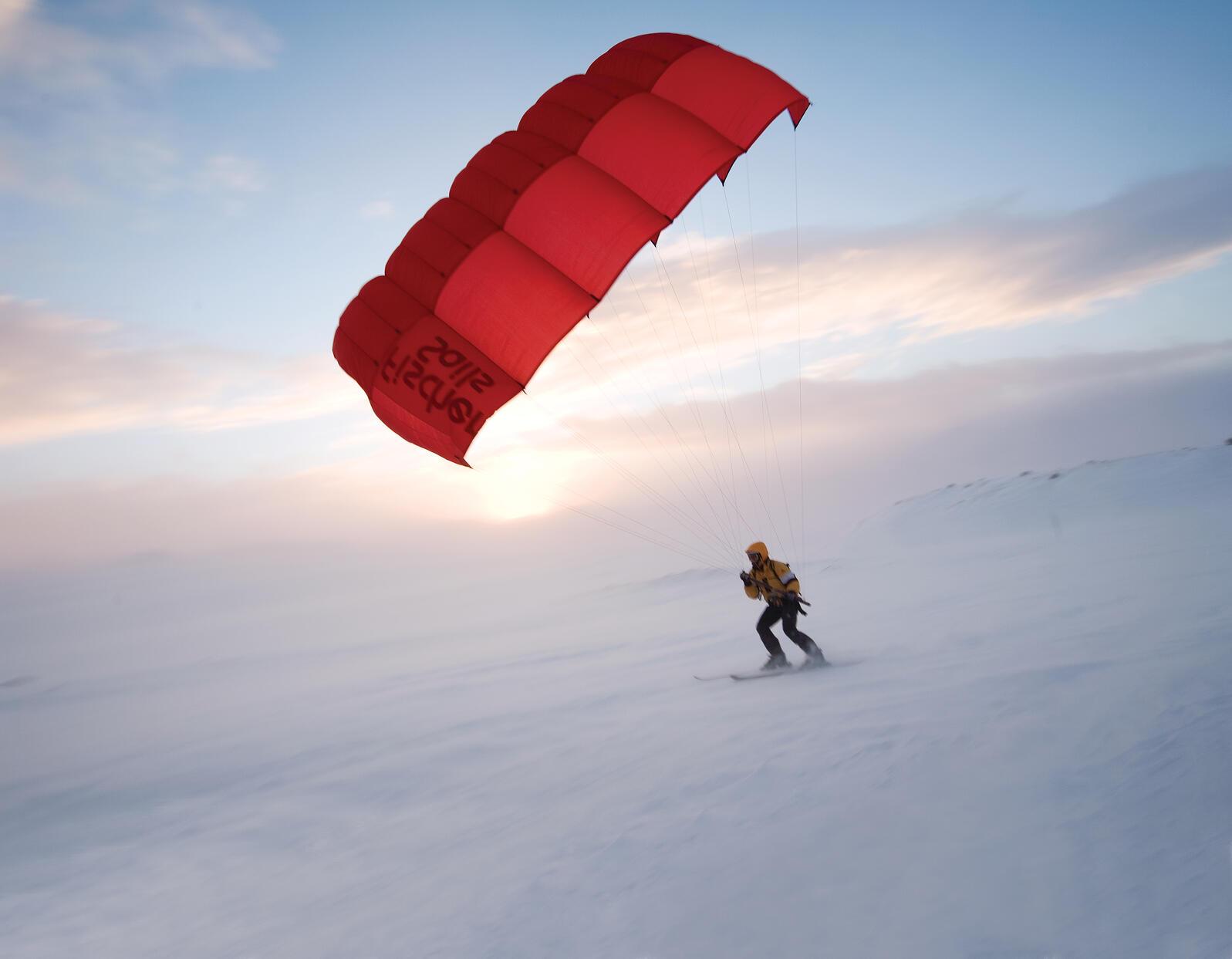 Hardangervidda National Park's constant winds make it a popular destination for ski sailors. Per Breiehagen