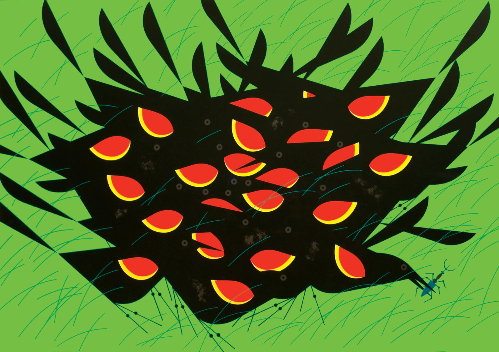 Red-winged blackbirds, 1960 Charley Harper