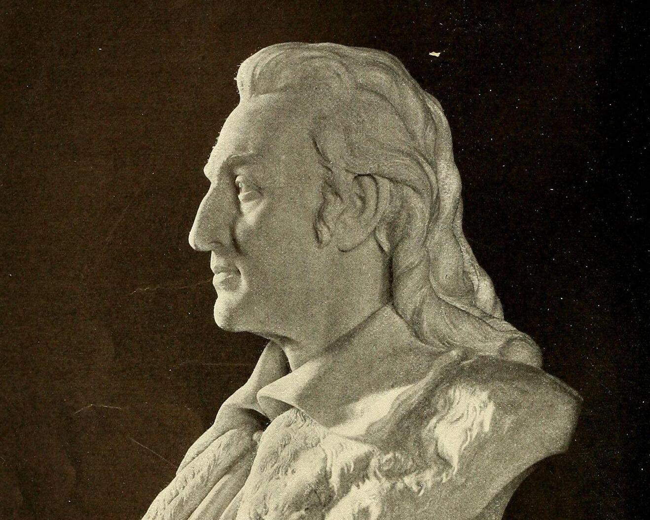 John James Audubon bust by William Couper. Reading Room 2020/Alamy