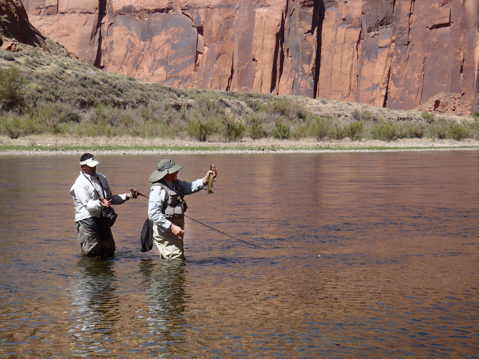 People fishing at Lee's Ferry, AZ. George Stephan/Flickr (CC BY 2.0)