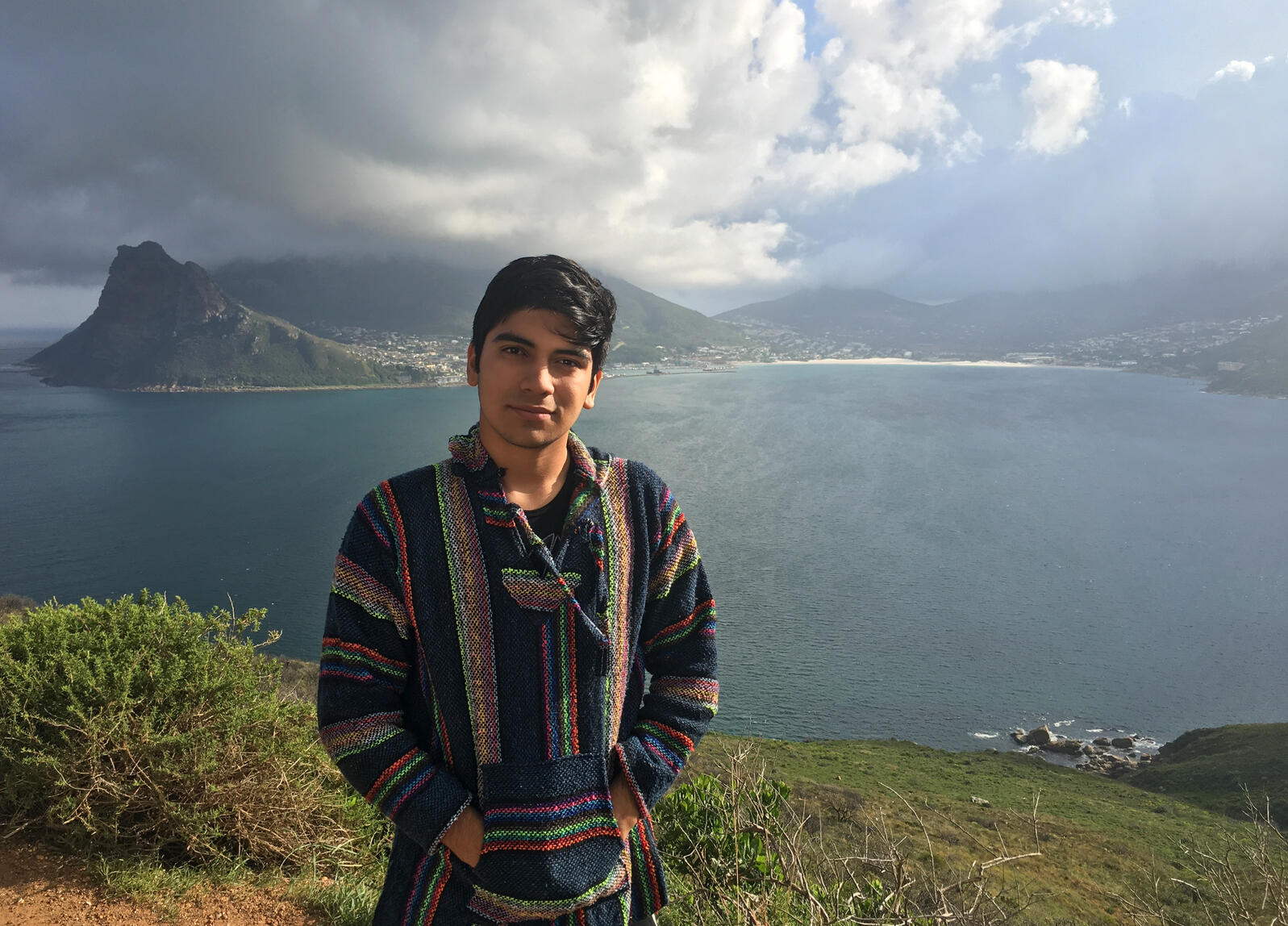 Ponce participated in an Experiment in International Living, a worldwide program offering cross-cultural education for high school students, in Cape Town, South Africa. Courtesy of Alonso Ponce
