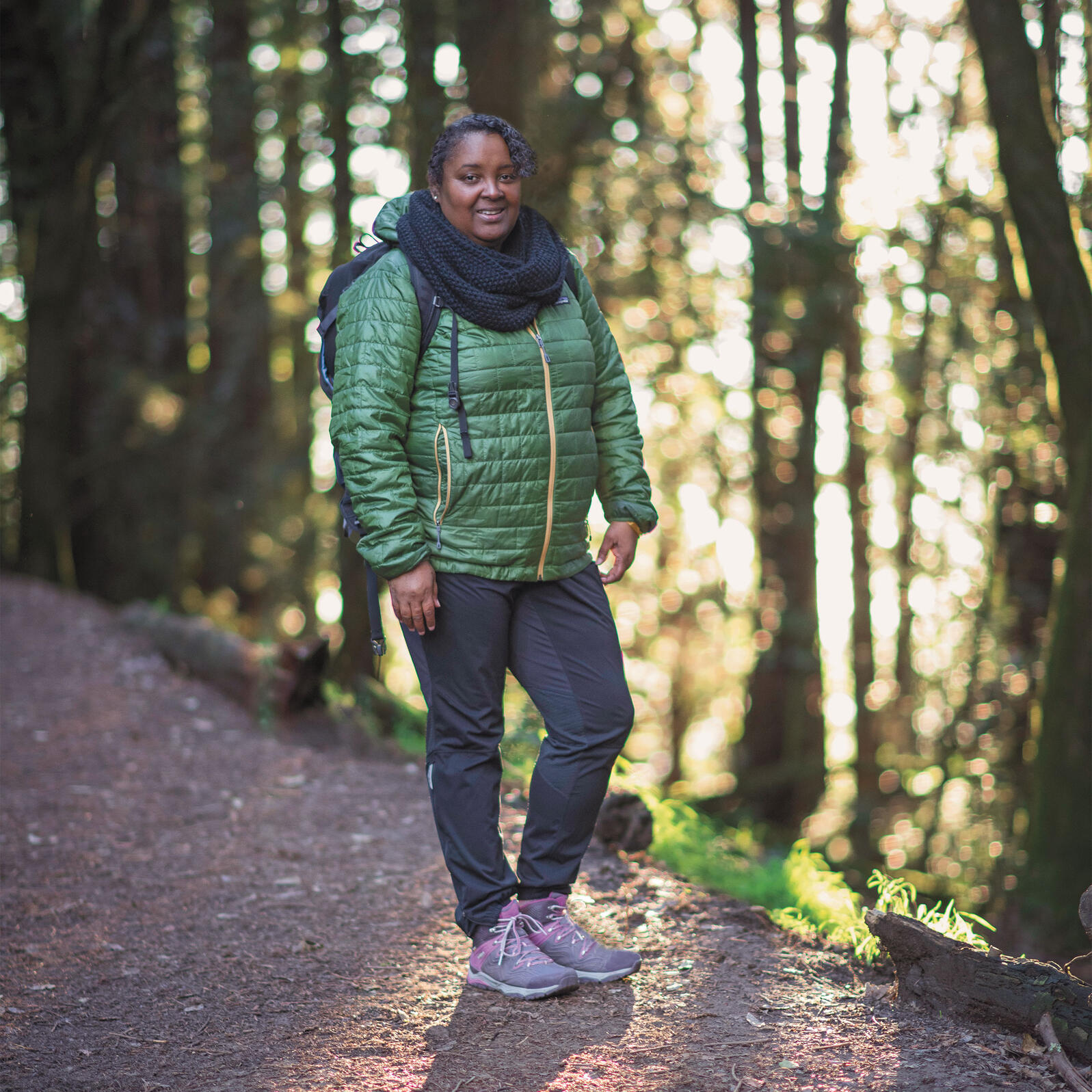 Teresa Baker spends much of her time hiking in parks around the country. But she still feels the pull of the redwoods near her Bay Area home. Victoria Reeder