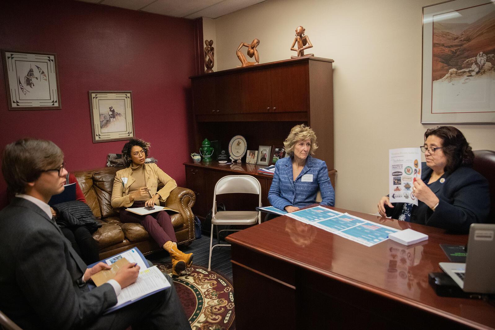 Rep. Rosanna Gabaldón reads over documents during a meeting with members of Audubon Arizona. Dominic Arenas/Audubon