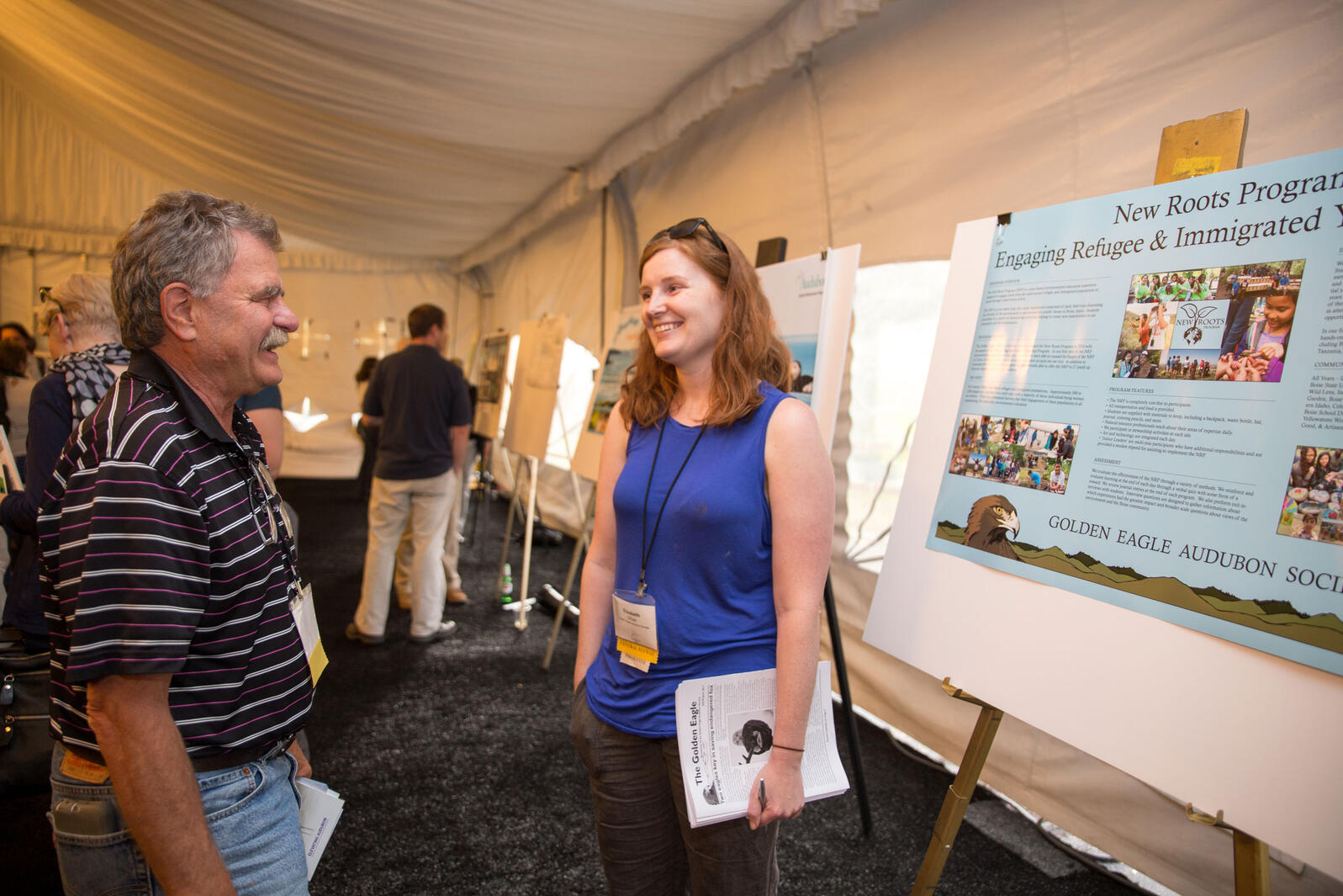 Poster session during the Audubon convention in 2017. Camilla Cerea/Audubo