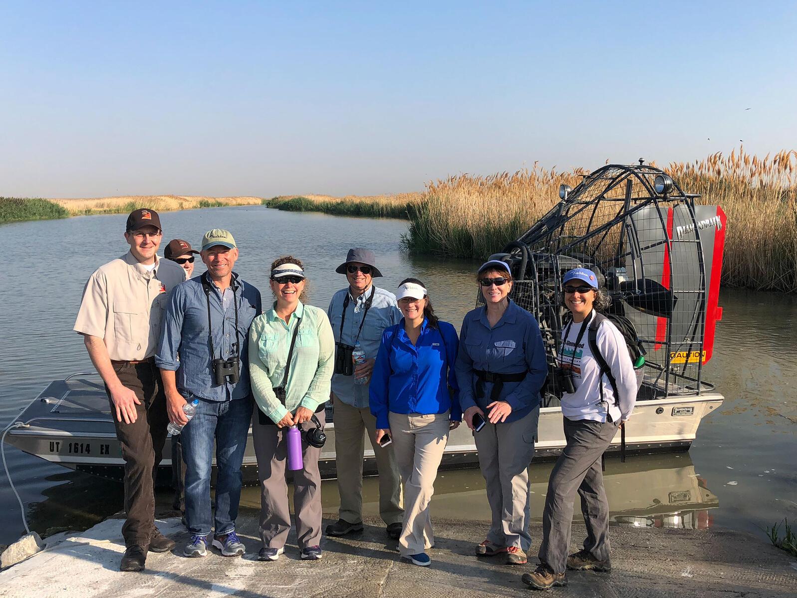 Utah Division of Wildlife Resources and Audubon visit Farmington Bay, one of five Important Bird Areas at Great Salt Lake. Lisa Hardaway/Audubon