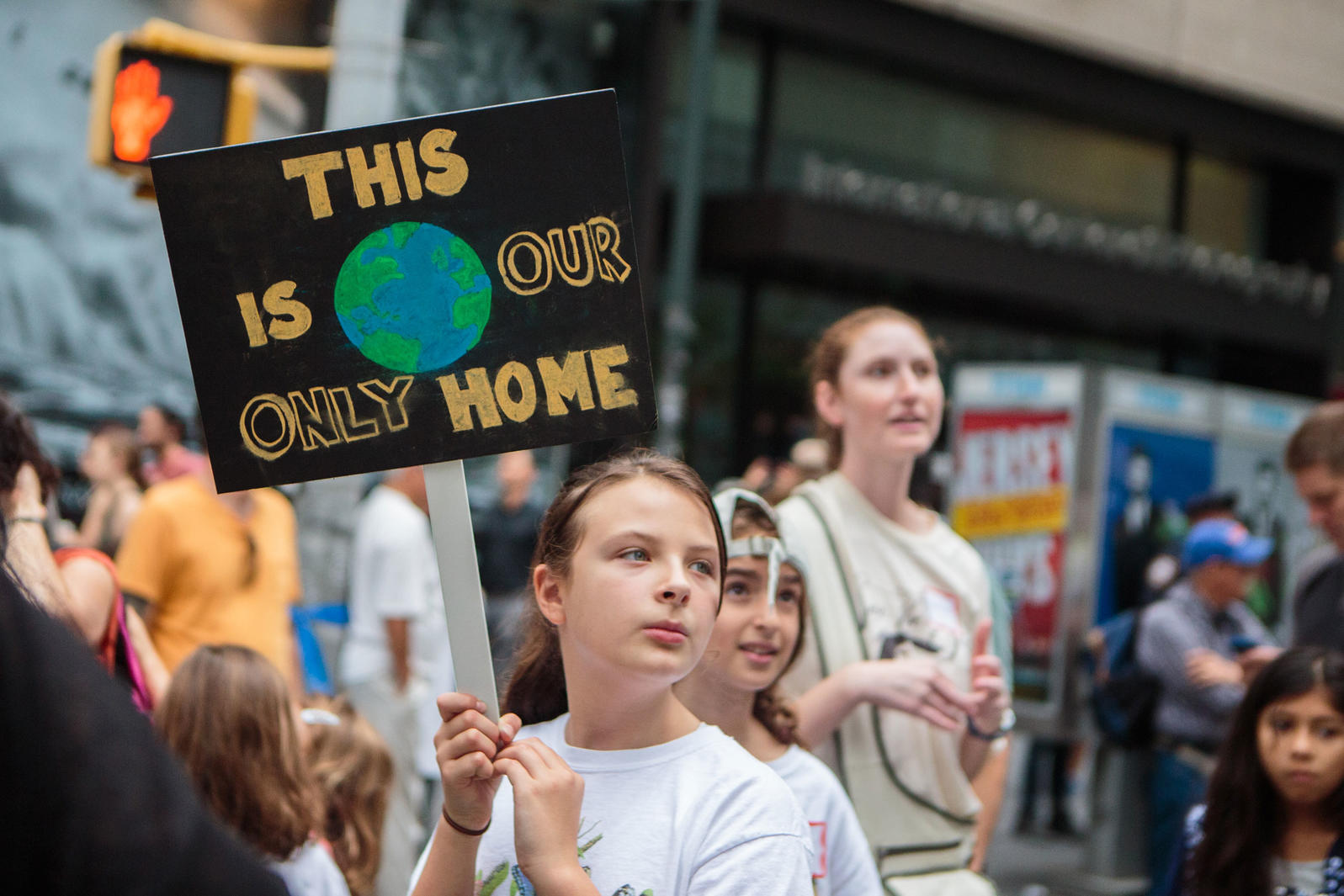 Demonstrators at the People's Climate March in 2014. Many faith groups also participated in the march, which was the largest climate protest in history. Patricia Monteiro