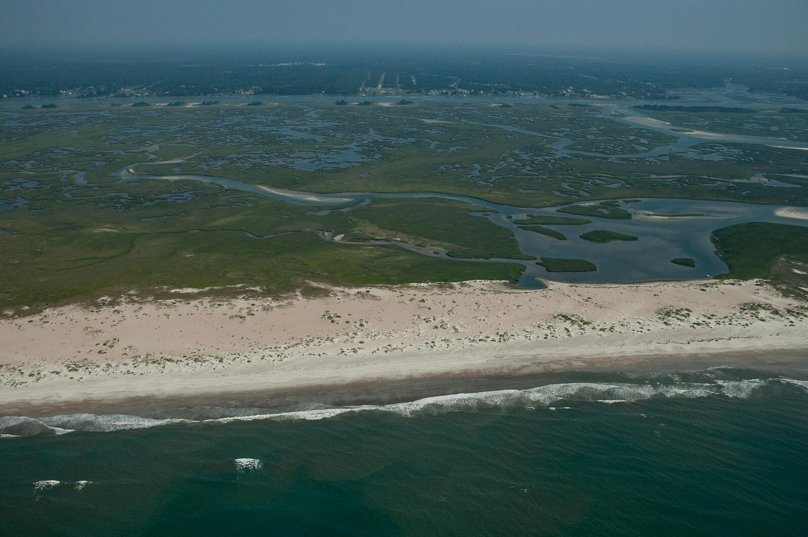 One of the North Carolina's few undeveloped barrier islands, Lea-Hutaff Island protects mainland communities from storm surge and sea-level rise. Walker Golder