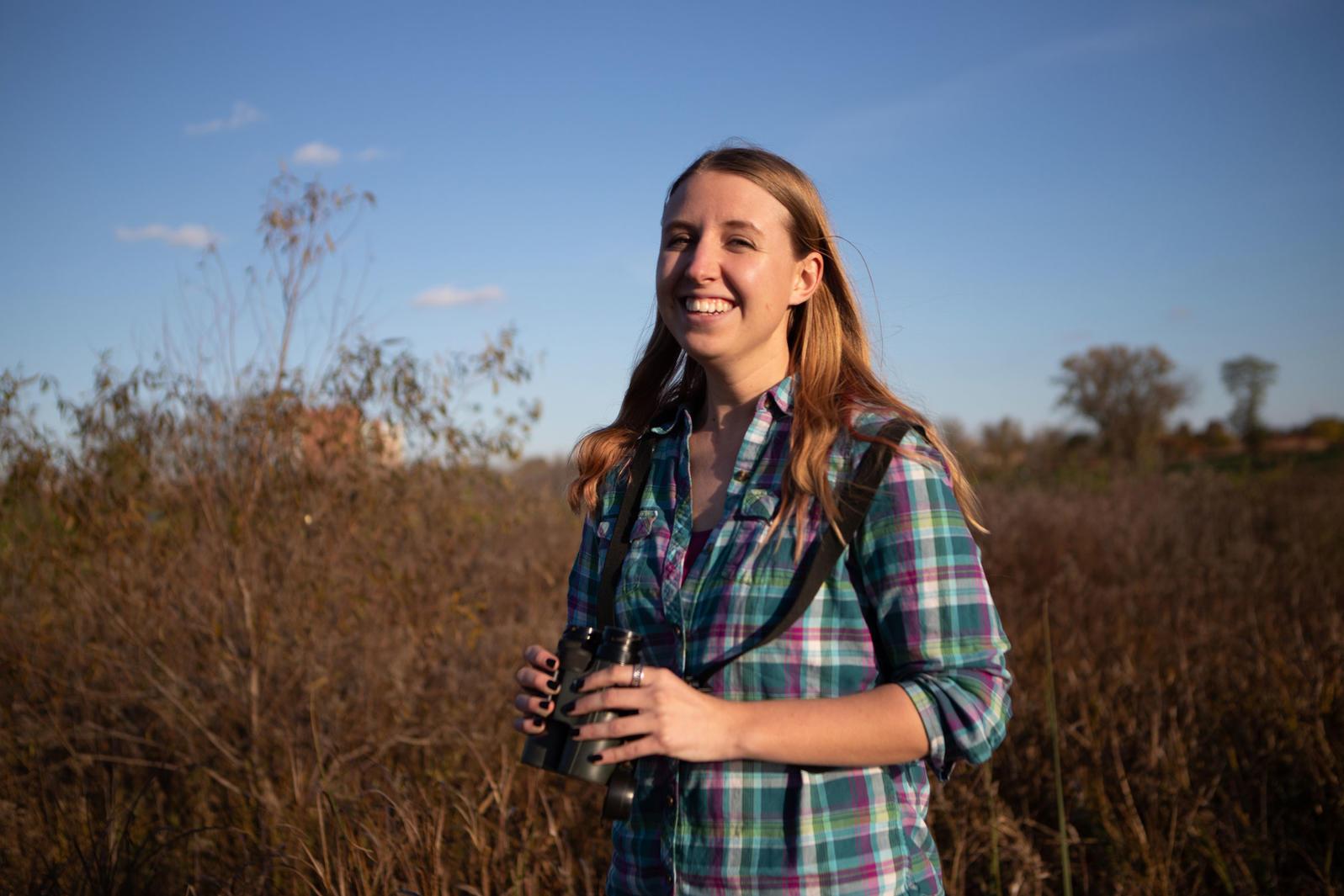 Sarah Winnicki, a longtime member and continued mentor of the Ohio Young Birders Club. Camilla Cerea/Audubon