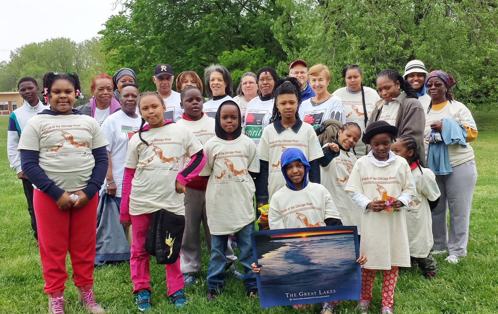 Faith in Place partners with congregations and conservation groups to organize habitat stewardship trips, such as this one with the St. Benedict The African East parish at Whistler Woods Forest Preserve, Illinois. Courtesy of Faith in Place