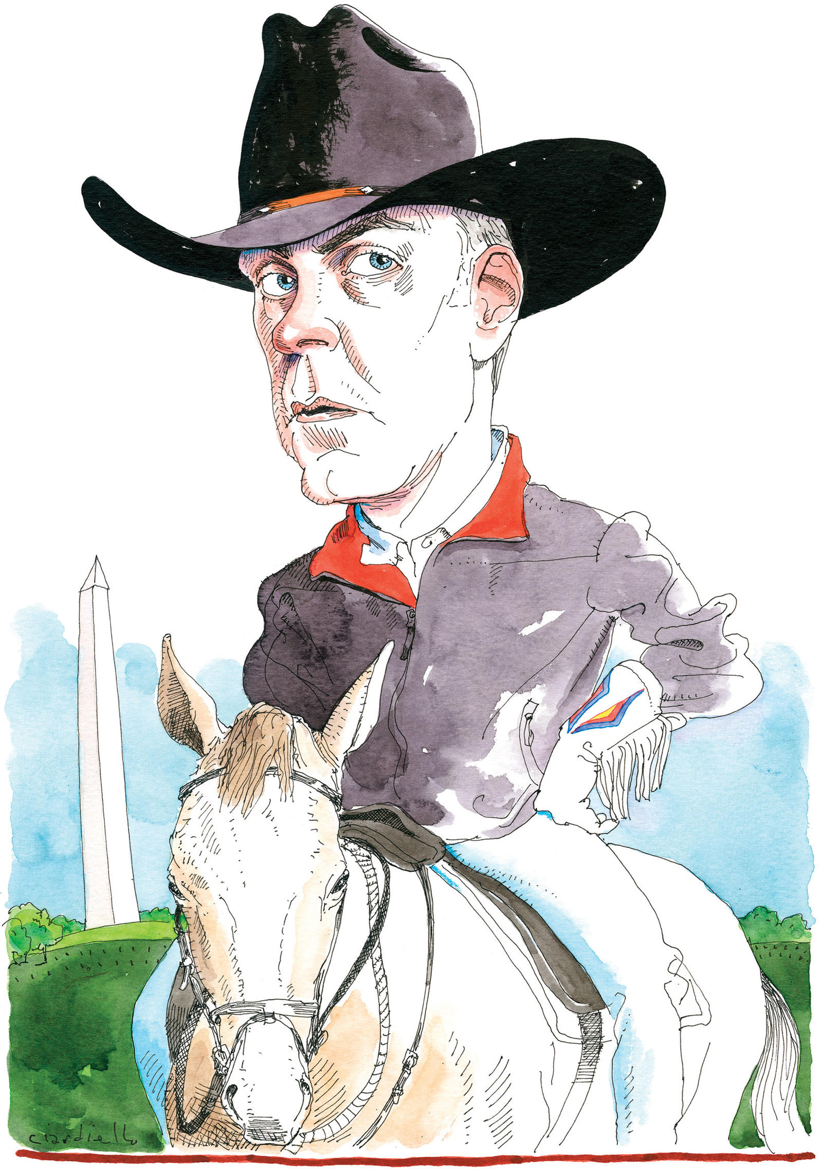 Ryan Zinke's conservation actions in his first few months haven't lined up with his Roosevelt-sized promises. Illustration: Joe Ciardiello
