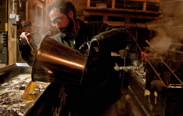 Tig Tillinghast makes maple syrup. Ben Stechschulte