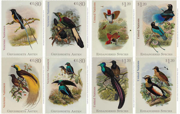 Bird-of-Paradise Stamps, On Sale Now