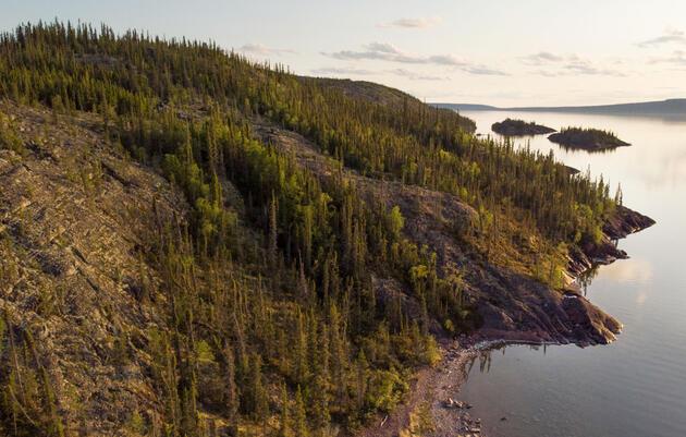 A view of the Canadian Shield that hugs the shoreline of Great Slave Lake near Lutsel K'e. Pat Kane