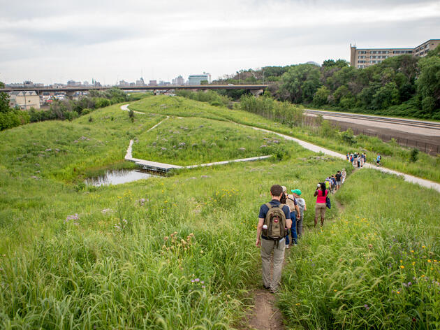 Birders hike through a park in Milwaukee, Wisconsin. Camilla Cerea/Audubon