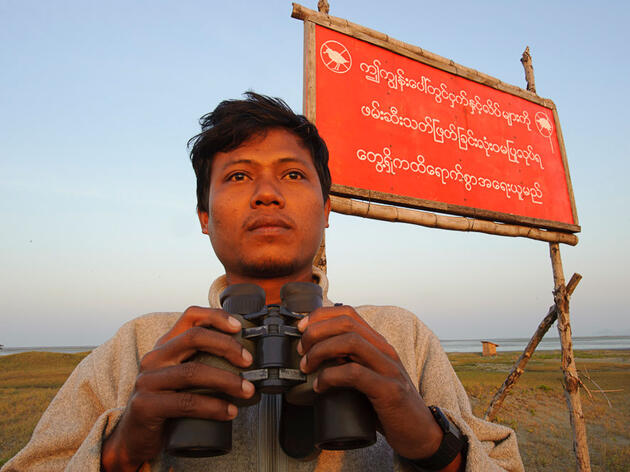 Ren Noung Soe is one of the local activists in Myanmar, championing for Spoon-billed Sandpipers and against bird hunting at Nan Thar Island. Gerrit Vyn