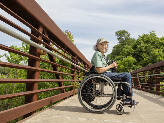 Rose, a Travis Audubon board member, recently held her own birdathon to raise awareness about Birdability, her new initiative to get more mobility-impaired people birding. Mike Fernandez