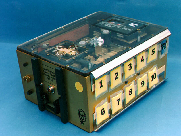 During the 1980s and '90s, NASA shot dozens of eggs into the galaxy in incubators. The experiments were nicknamed Chix in Space. Courtesy of John Vellinger