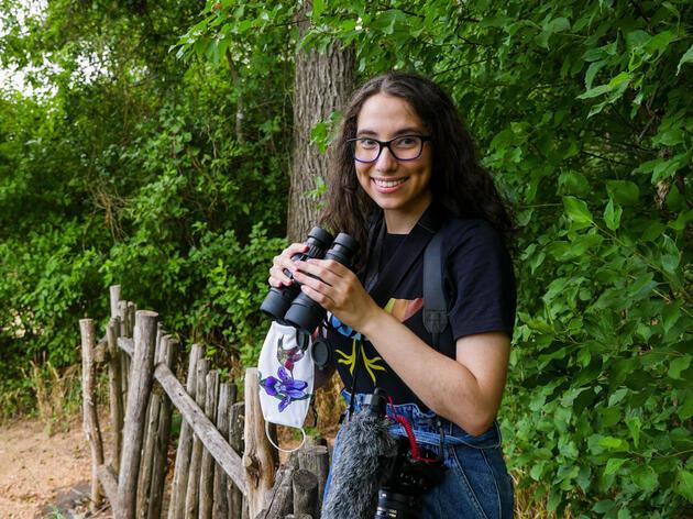 Walker Social Media fellow, Gabrielle Saleh, visits Trinity River Audubon Center in Dallas, Texas. Christine Lin/Audubon