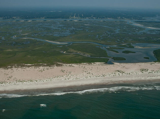 Sand dunes and wetlands protect the North Carolina communities behind them from storm surge and sea-level rise. Walker Golder