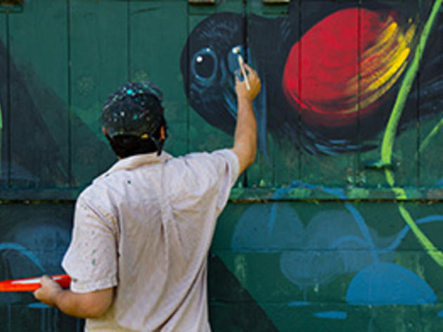 Hitnes Paints First Murals at Pickering Creek Audubon Sanctuary