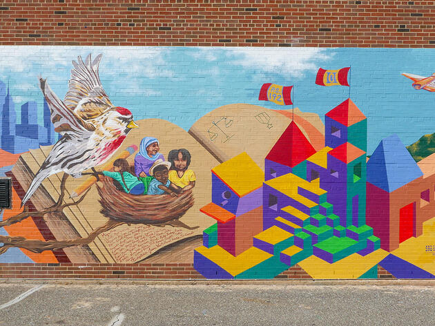 In Harlem's Jacob Schiff Park, Four New Birds Join the Audubon Mural Project