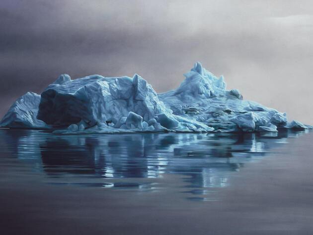 """Greenland #62, 47""""X70"""", Soft Pastel on paper, 2013. Painting: Courtesy of the artist Zaria Forman."""