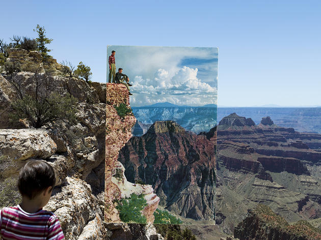 Mark Klett and Byron Wolfe, Two Boys with Striped Shirts, Bright Angel Point, Grand Canyon, 2010. Mark Klett and Byron Wolfe