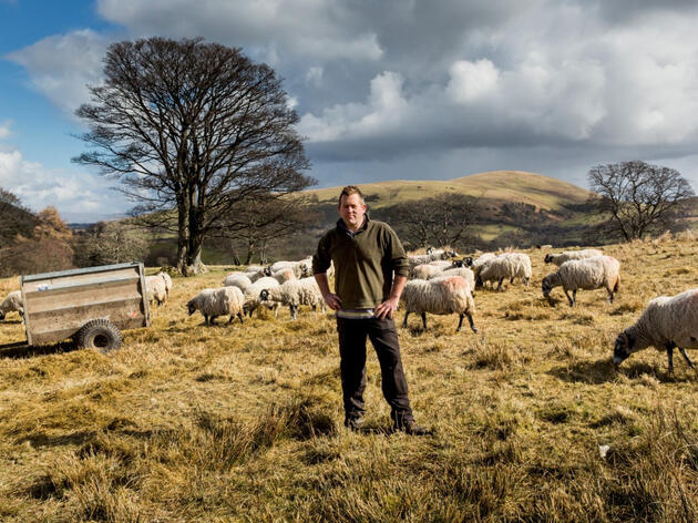 """James Rebanks on his sheep farm in England's Lake District. """"As farmers, we're invisible in our own landscape,"""" Rebanks told the Guardian. Christopher Thomond/The Guardian"""