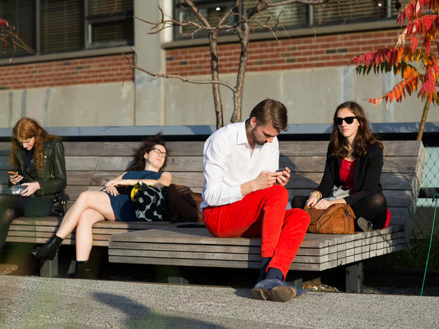 A photo of New Yorkers lounging largely without jackets in November ran alongside a story lamenting how climate change was ruining fall fashion. Marcy Swingle/The New York Times