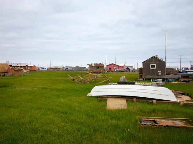 Beneath the surface of the tundra in the Iñupiat town of Wainwright, Alaska, the permafrost is slowly warming—just one of several ways climate change is affecting the community. Brian Adams