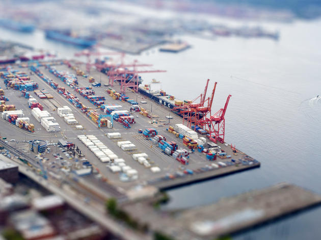 Shell has brokered a deal to dock their oil tankers at the Port of Seattle, pictured here. Cam-Fu/Flickr Creative Commons