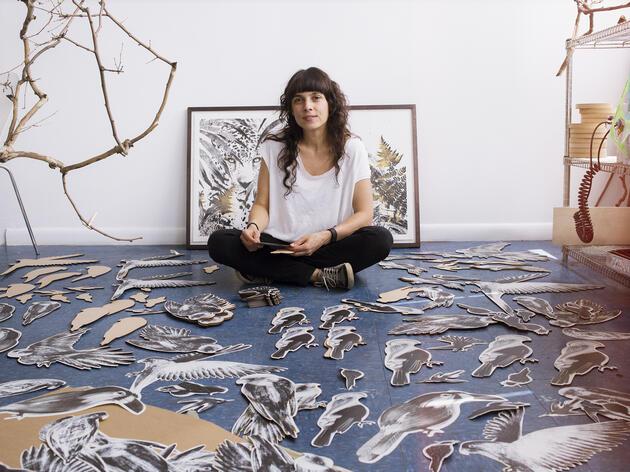 Artist Tatiana Arocha in her Brooklyn studio. Mike Fernandez/Audubon
