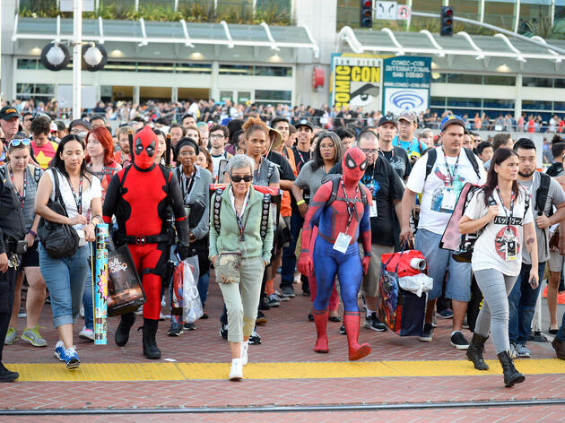 Fans leave the convention center on day one of Comic-Con International 2016 in San Diego. Denis Poroy/Invision/AP