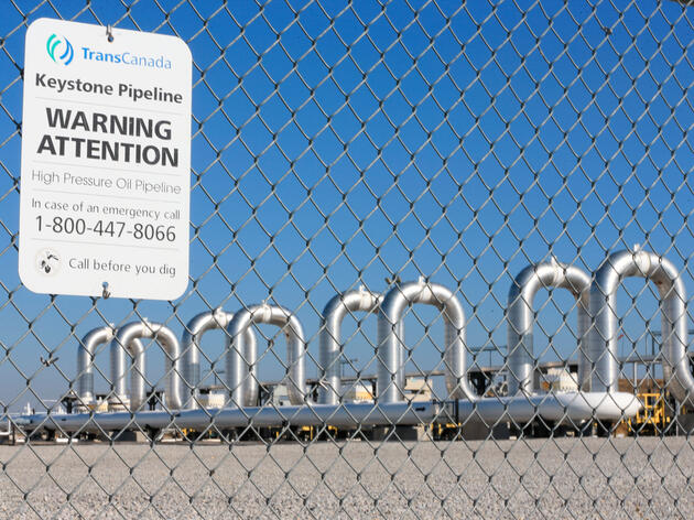TransCanada—whose pumping station in Steele City, Nebraska is pictured here—said its existing Keystone I pipeline spilled nearly 17,000 gallons of oil earlier this month. Nati Harnik/AP