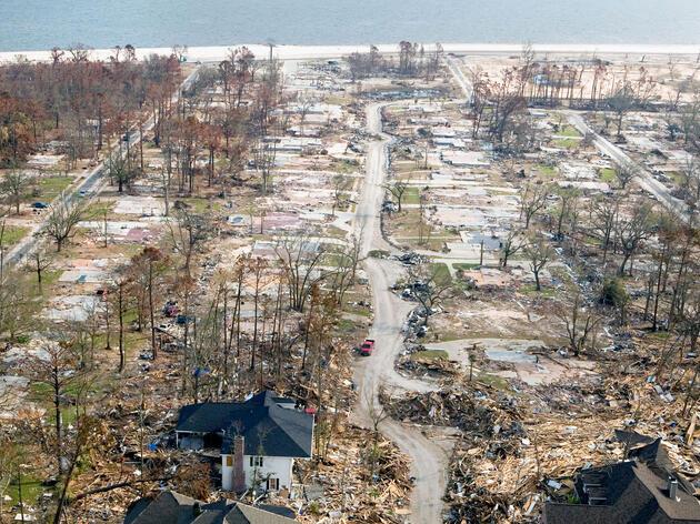 Hurricane Katrina devastated many areas along the Gulf Coast, including activist Kathy Egland's town of Gulfport, Mississippi. FEMA/Alamy