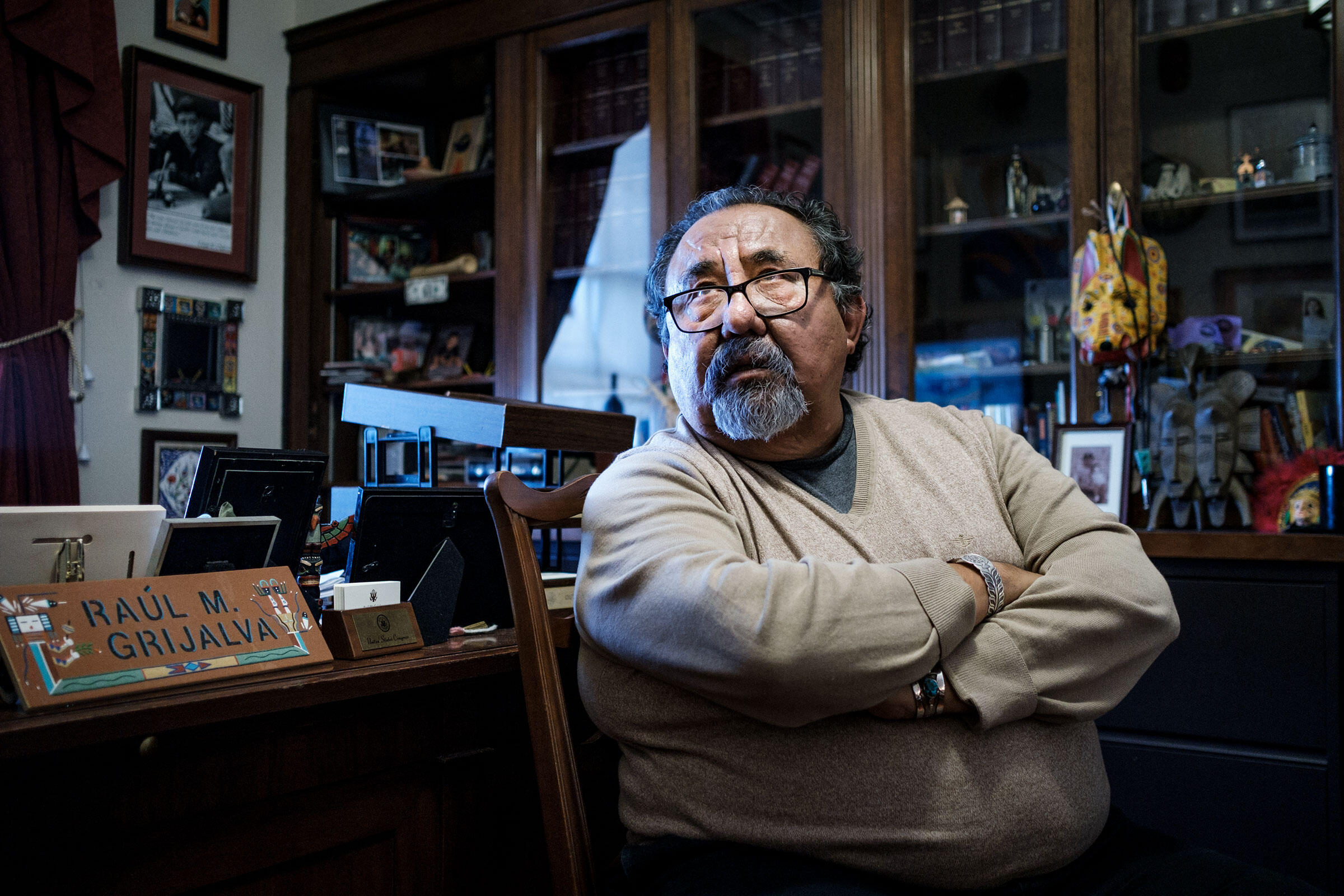 Rep. Raúl Grijalva (D-Arizona), the new House natural resources chairman, in his office on Capitol Hill. Pete Marovich