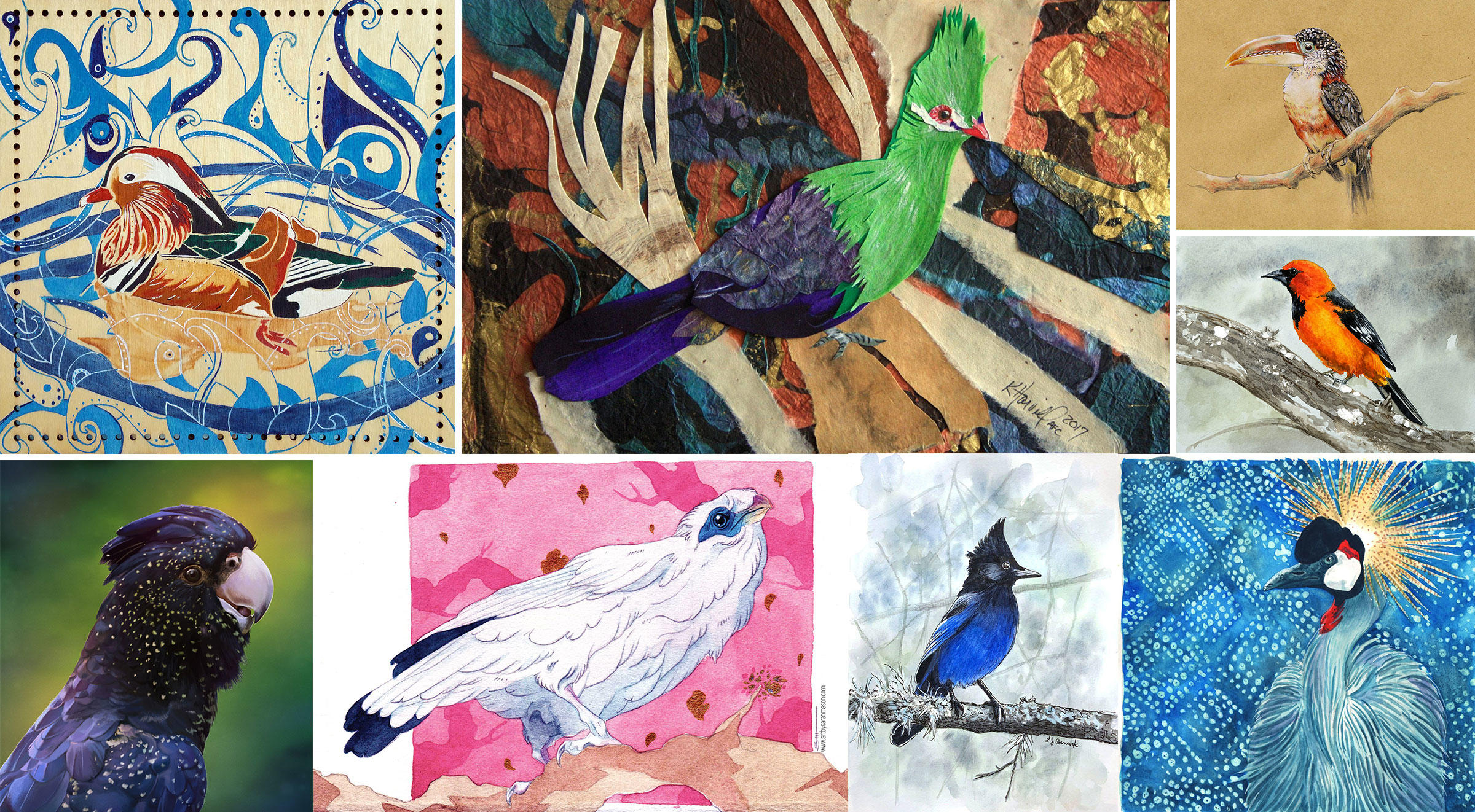Illustrations clockwise from top left: Janin Wise; Kitty Harvill; Mia Crow; Amy Nagi; Kat G. Birmelin; Lisa Johnston Hancock; Sarah Mason; Megan Russell
