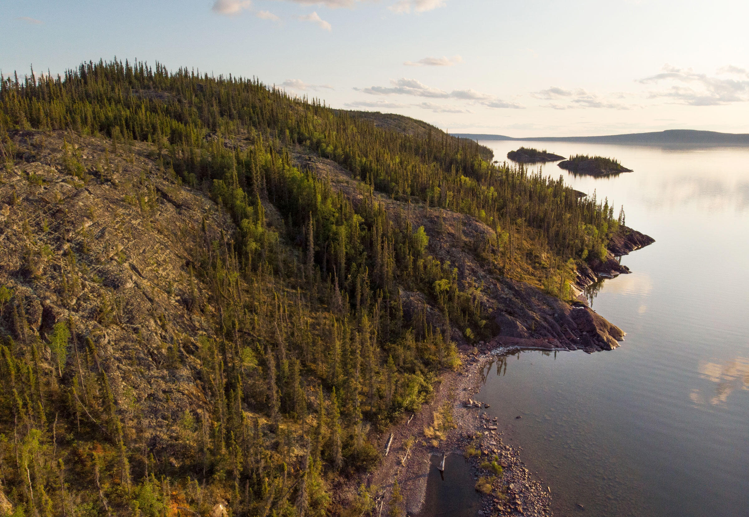 The new protected area straddles Canada's tree line, where boreal forest transitions to heath-dominated tundra—an important area for wildlife migration as the climate warms. Pat Kane