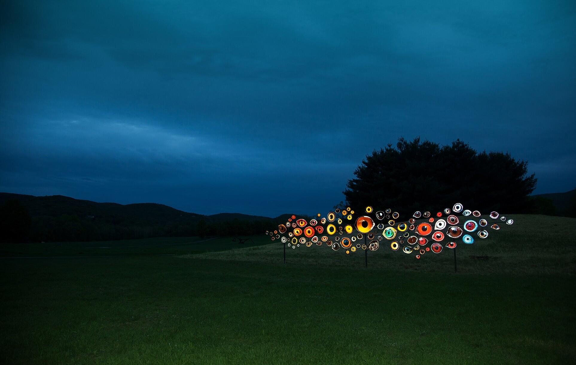 """Jenny Kendler's installation """"Birds Watching"""" at the Storm King Art Center is part of the 2018 special exhibit """"Indicators: Artists on Climate Change."""" Jenny Kendler"""