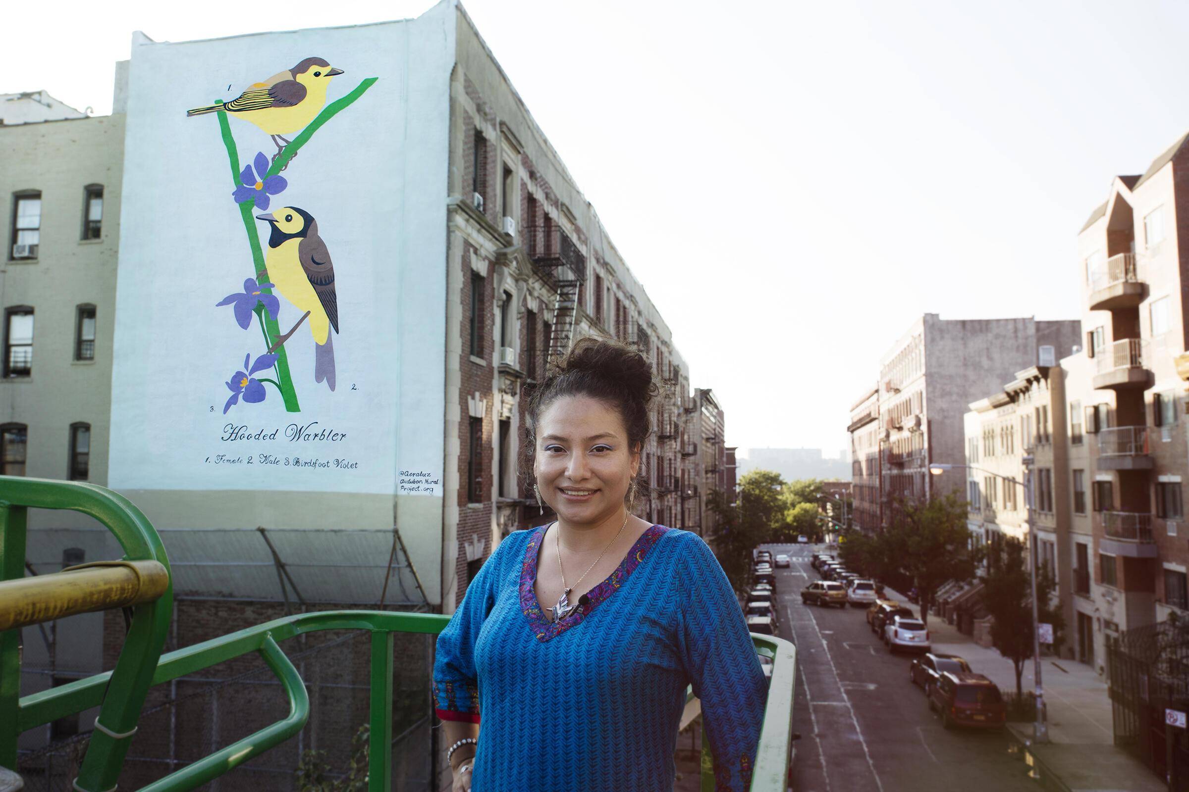 Muralist GERALUZ. Mike Fernandez/Audubon